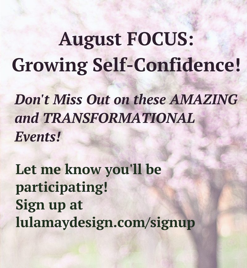 August Focus Growing Self Confidence