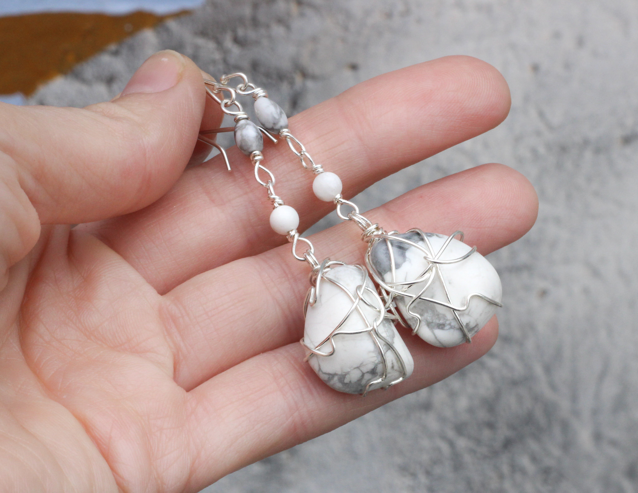 Divine Wisdom Earrings - Howlite