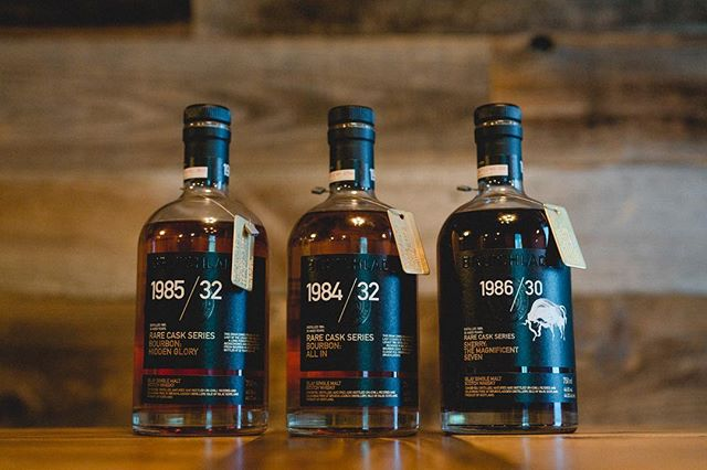 Happy #whiskeywednesday  Ultra-rare, @bruichladdich 1985/32 • 1984/32 • 1986/30. Try all three at @beerbaronpleasanton . . #whiskey #whiskeyporn #whiskey  #scotch #scotchwhisky #whiskeys #scotchwhiskey #whisky #drinks #bar #bars #bottles #thirsty #thrillist #drinkswithfriends #drinkstagram #drinkblogger #feedfeed #instagood #yum #yummy #delicious #drinkup #cheers