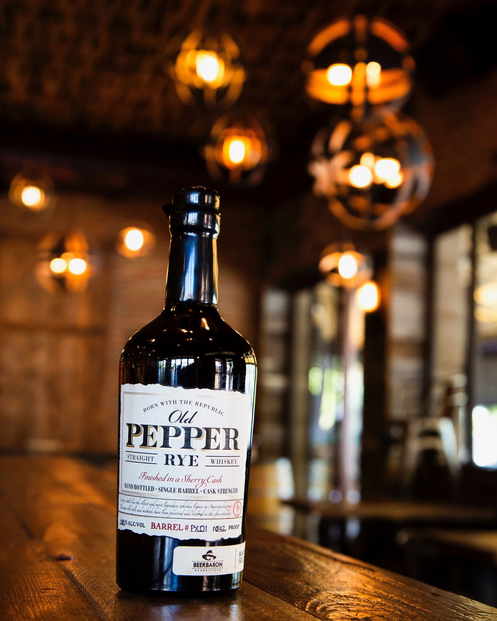 What's up Whiskey Wednesday fans? We are bringing another house barrel selection to you with our Old Pepper 5 year Rye from  James E. Pepper Distillery ! This selection, only sold at Beer Baron, is a straight rye finished in a cherry cask, giving it notes of sherry on the nose and palate. Because this rye whiskey is bottled at cask strength, the sweet flavors of sherry bomb, dried apricots, and cola will be sure to pack a punch. Come try this exclusive whiskey and other house barrel selections! Only at Beer Baron!