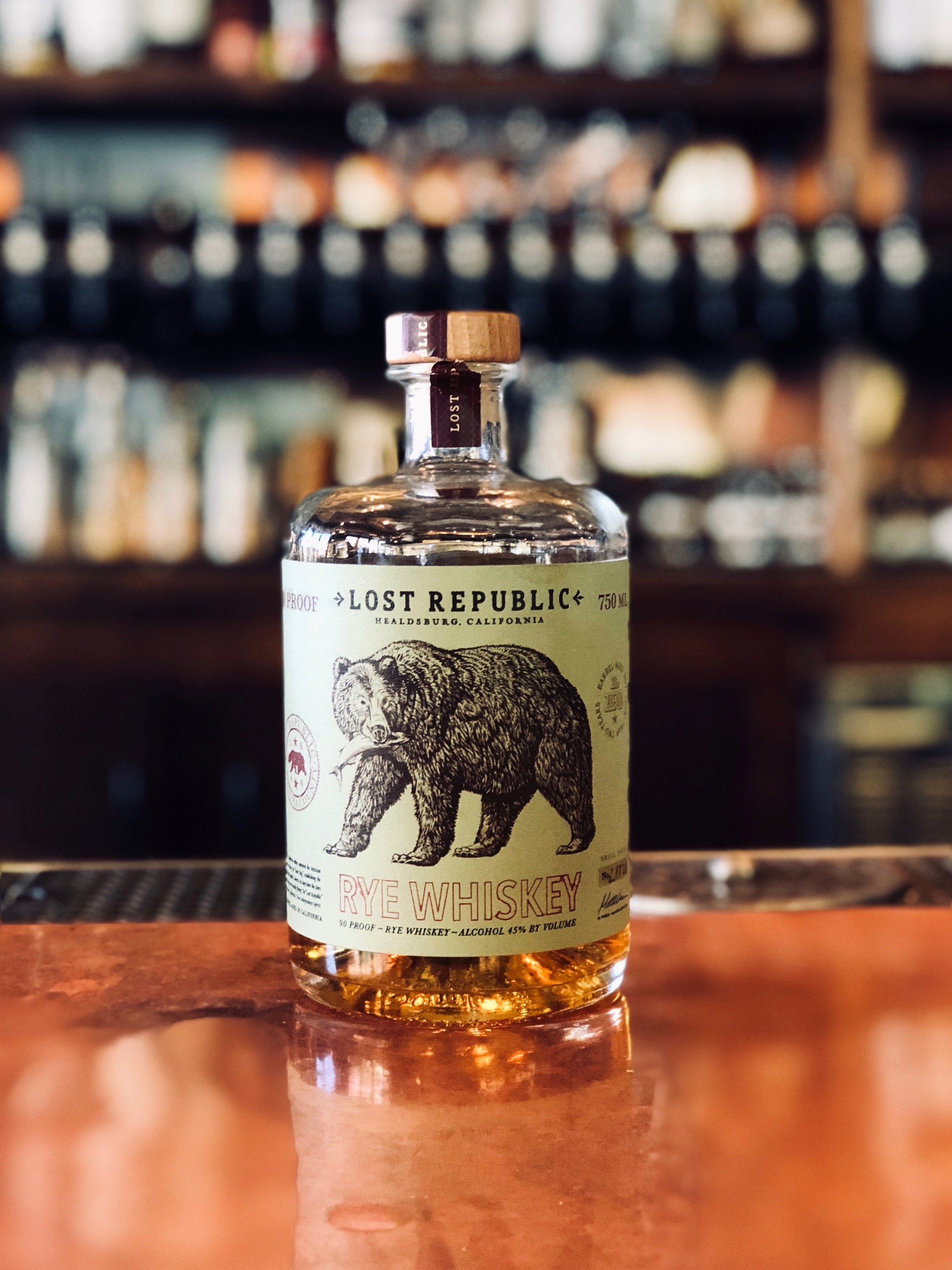 Happy hump day! Need a way to celebrate getting through the first half of the week? Why not come in for Whiskey Wednesday?   .  All whiskeys $10/oz and under are 50% off all day Wednesday!   .  This week we feature Lost Republic's Rye Whiskey. Lost Republic hails straight from Healdsburg, CA where two born and raised Sonoma County guys decided to make their dreams of distilling a reality. With their straight rye whiskey you'll note hints cherries, tobacco, and lemon zest on the nose and enjoy a sweet and spicy balance of flavors including raspberries, toffee, cloves and ginger on the palate. Expect to come away with a lasting taste of vanilla and a memorable whiskey you'll love.