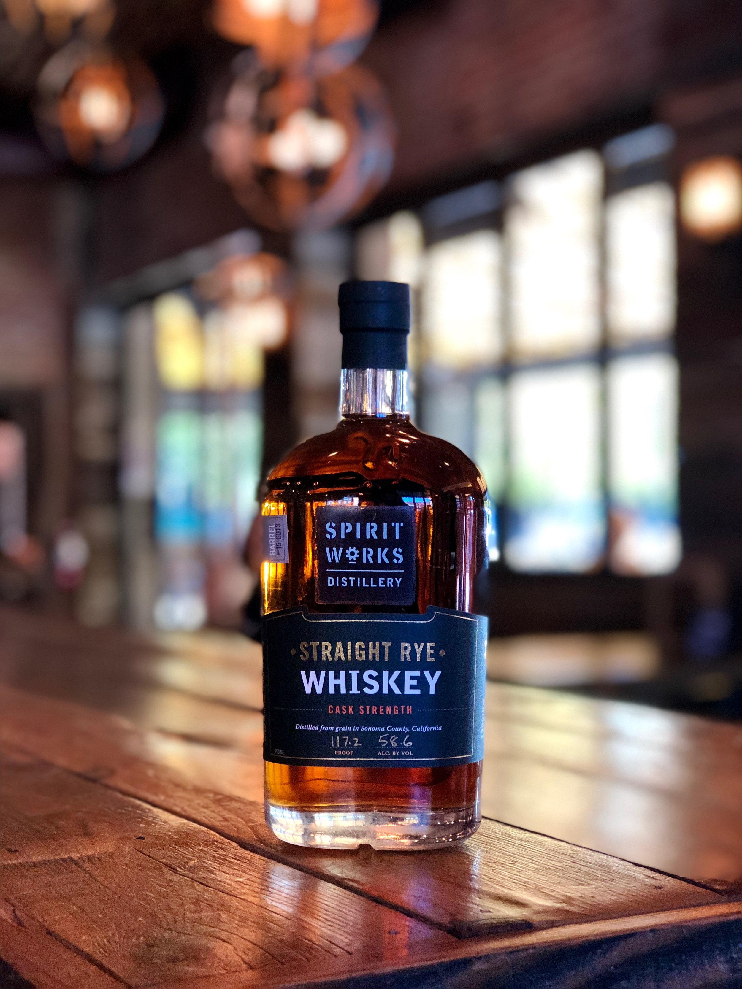 Happy Halloween! 🎃 👻 🍂 🍁For this festive fall holiday, we have a spicy, local whiskey for Hallowhiskey Wednesday!   .  Spirit Works Distillery's Straight Rye Whiskey will leave baked apple, leather, cedar, and coffee on the nose and tastes of clove, baking spices, honeycomb, and oak on the palate. Straight from Sebastopol, Timo and Ashby and their small staff of dedicated, passionate, and predominantly female producers have really created something worth your while. You need to come taste this exclusive whiskey!  .  Whiskey Wednesday offers 50% off all whiskeys $10/oz and under!  .  Have fun today, and please be safe and drink responsibly!