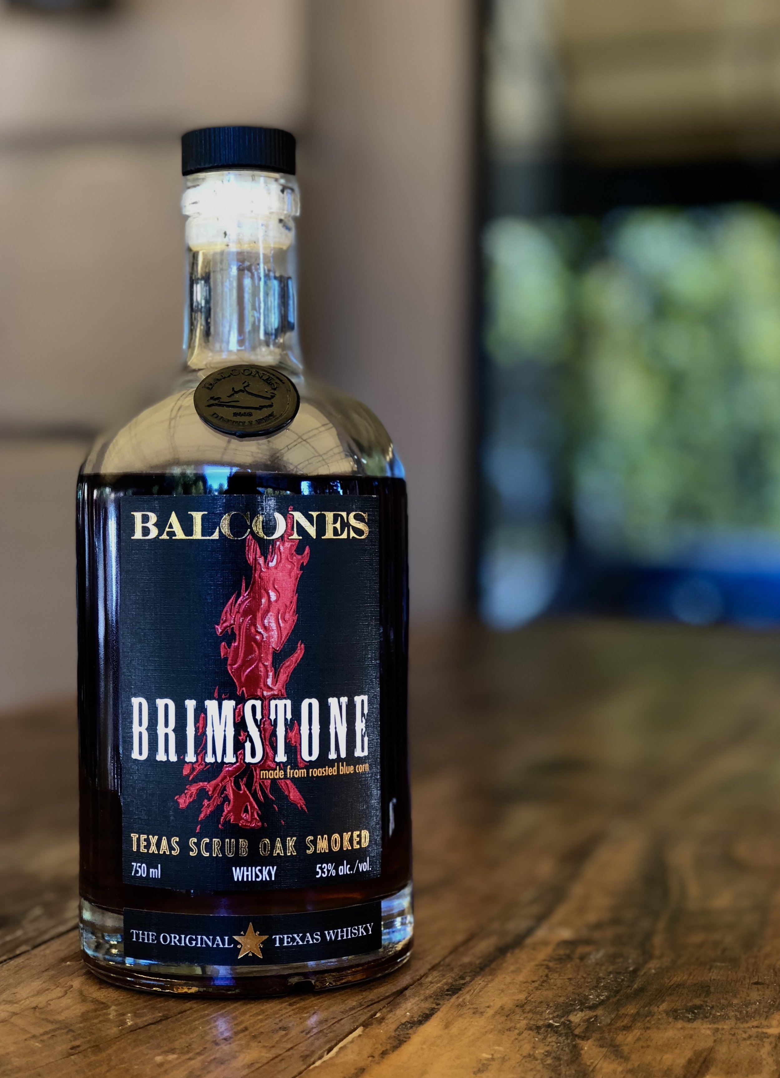 """This Whiskey Wednesday we have a bottle that tops our Distinct Whiskey section.      Balcones Distilling's Brimstone whisky is a Texas Scrub Oak Smoked Whisky made from roasted blue corn.       """"This one-of-a-kind whisky is smoked with sun-baked Texas scrub oak using our own secret process.  The result is a whisky full of fresh, youthful corn and light fruit notes married with a bold smokiness.  Whether you like smoky whiskies, or just have a penchant for big, new flavors, Brimstone is sure to be a memorable pour.  Aromas of masa, Texas campfire and powdered sugar backed by stone fruit, peppery spice, and mint. Bold yet balanced, Brimstone is yet another Texas original from Balcones.""""  -Balcones     Whiskey Wednesday offers 50% off all whiskeys $10/oz and under all Wednesday. Cheers!"""