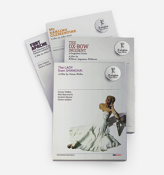 DVD titles within a series were designed with similar treatments.
