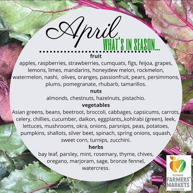Here's what we can look forward to from farmers in April!  #vfma #jointhelocalfoodrevolution #knowyourfarmer #buylocal
