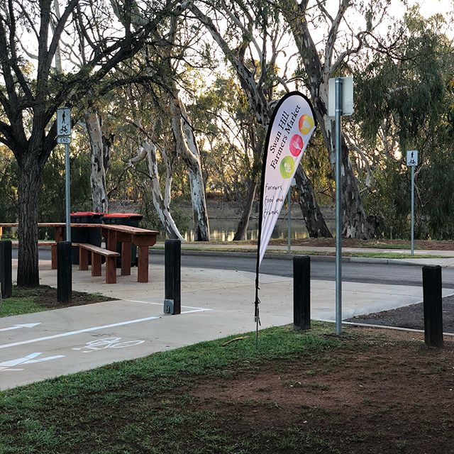 Beautiful morning here at Riverside Park!  #shfm #vfma #jointhelocalfoodrevolution #swanhill #mallee