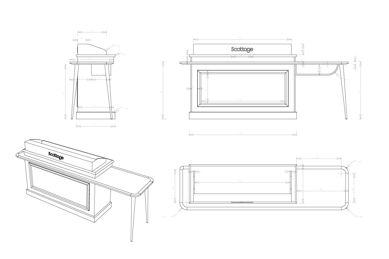 Meuble caisse : conception, design et suivi de réalisation