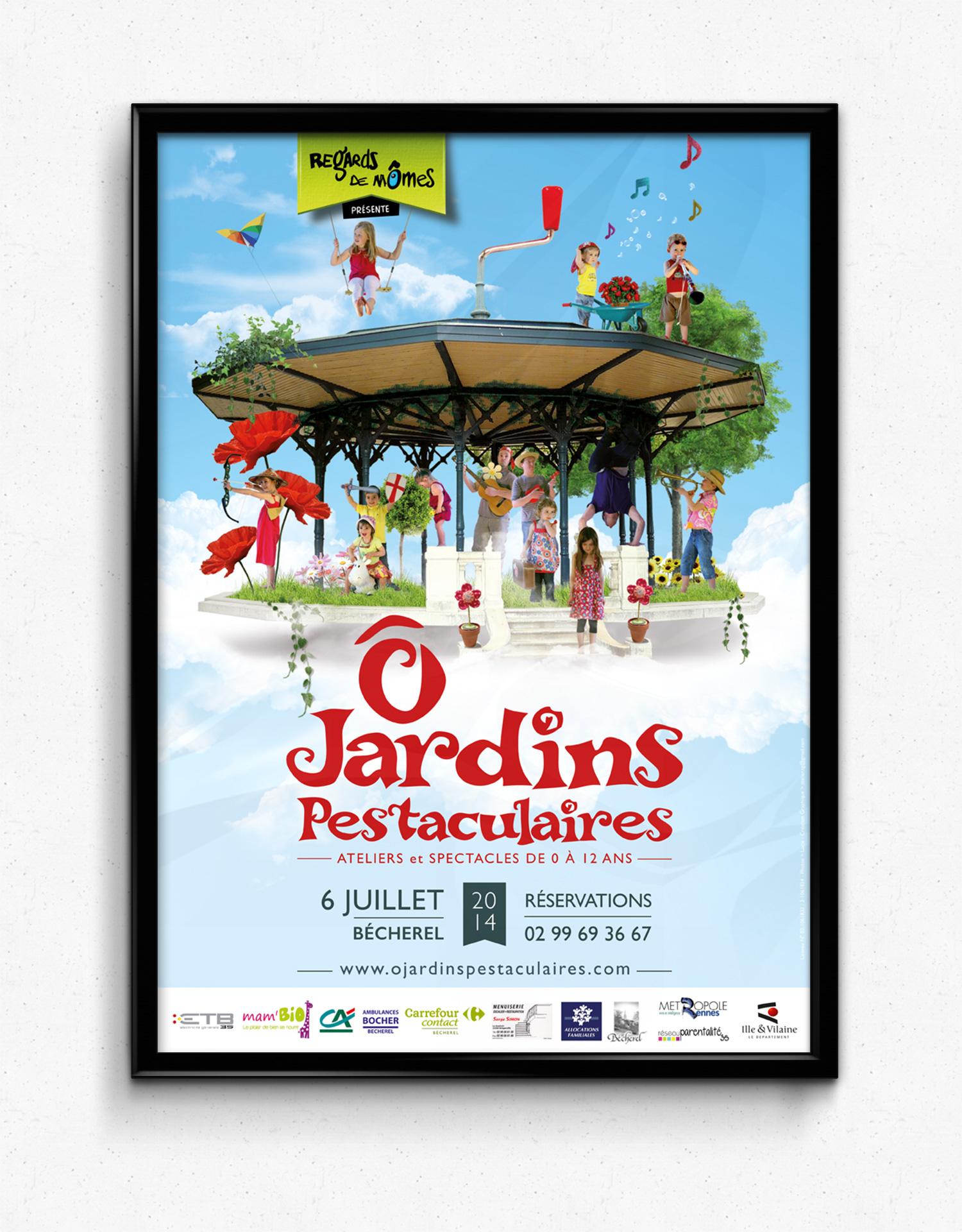 Affiche festival - Ô Jardins Pestaculaires - 2014