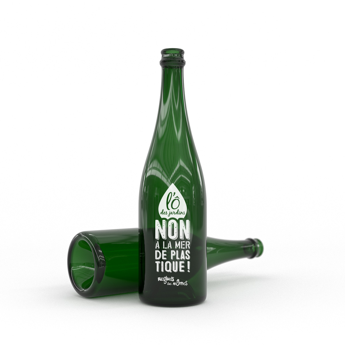 Marquage bouteille recyclée