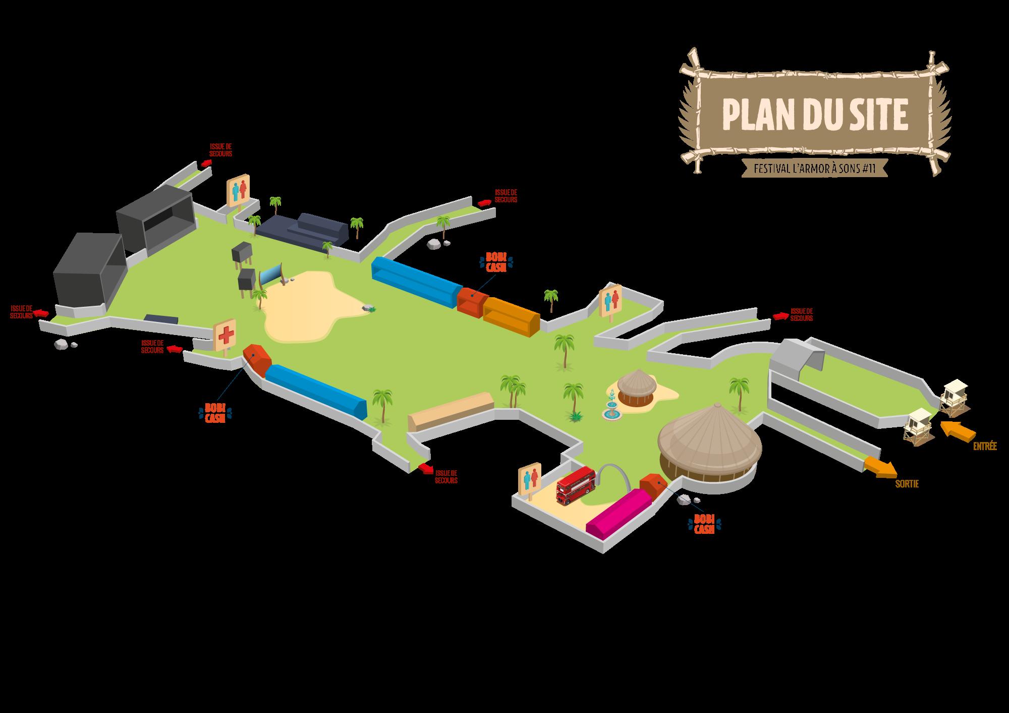 """Modélisation 3D du plan du site destiné à être intégré dans le programme. Une modélisation de l'espace """"Partenaires"""" a également été réalisée."""