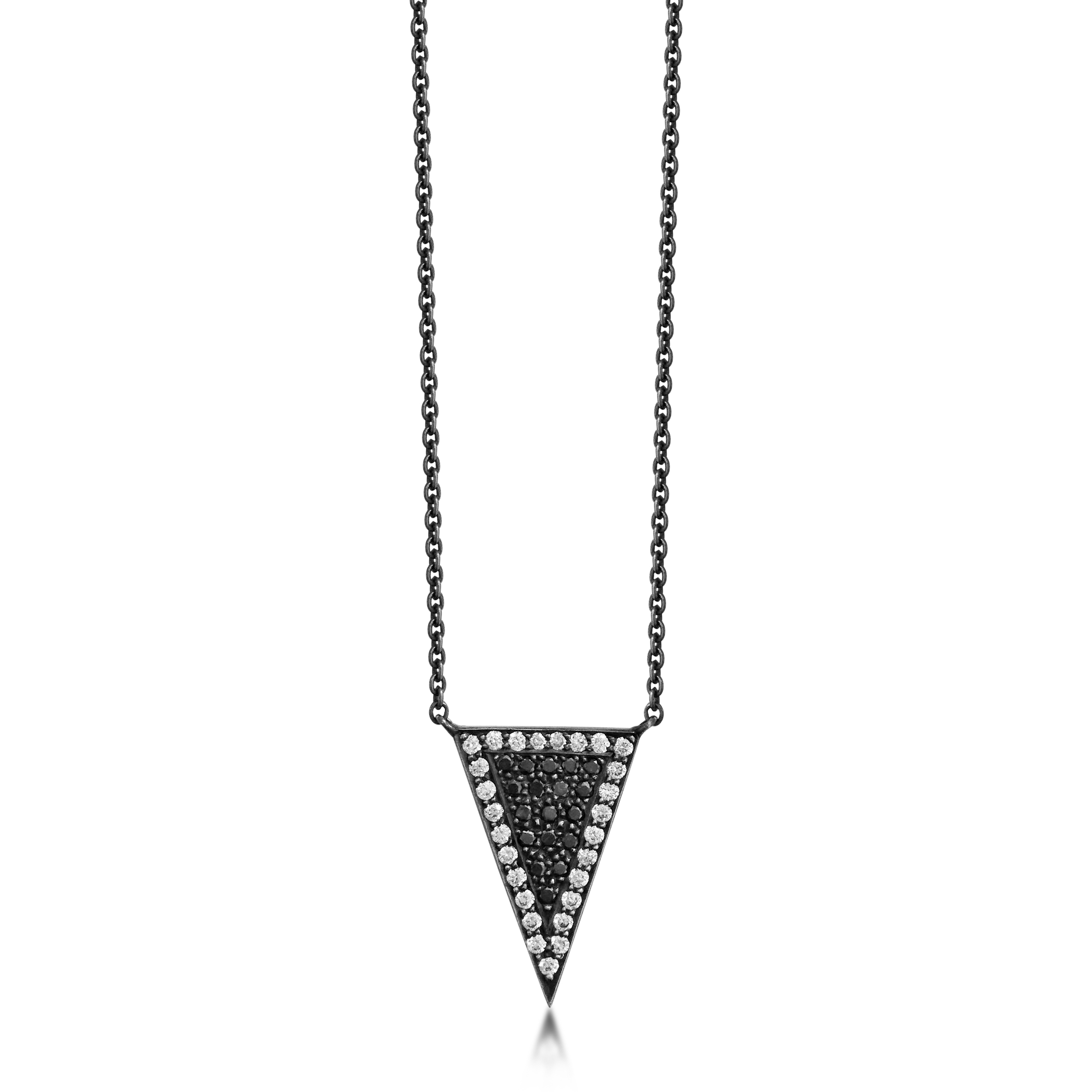 Black-and-white diamond-arrowhead pendant-with-9ct-yellow-gold-mirror-effect-reverse-and-blackened-silver-16inch-chain-SN13b.jpg