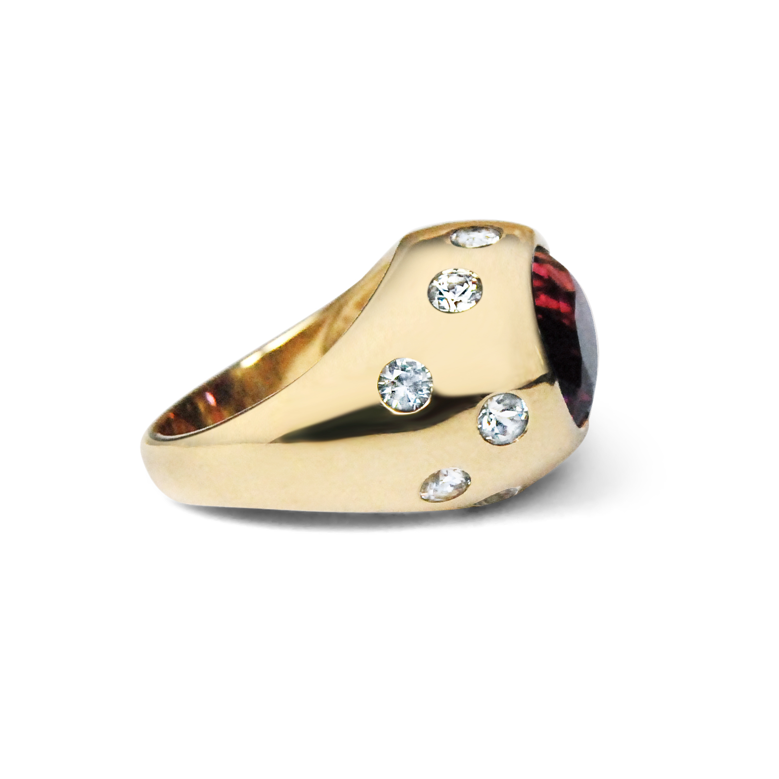 Garnet-and-white-sapphire-gold-cocktail-bombe-ring-2 .jpg