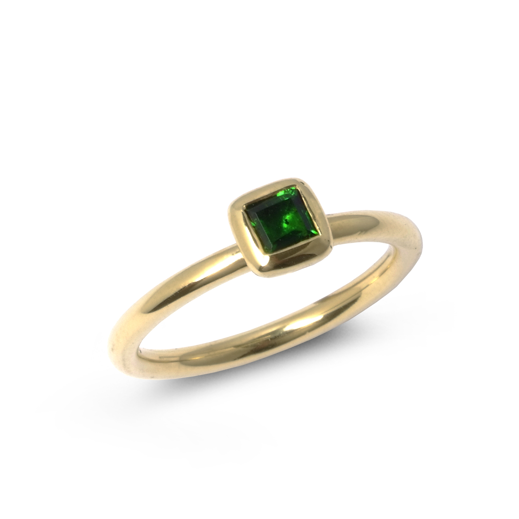Green tourmaline stacking ring top