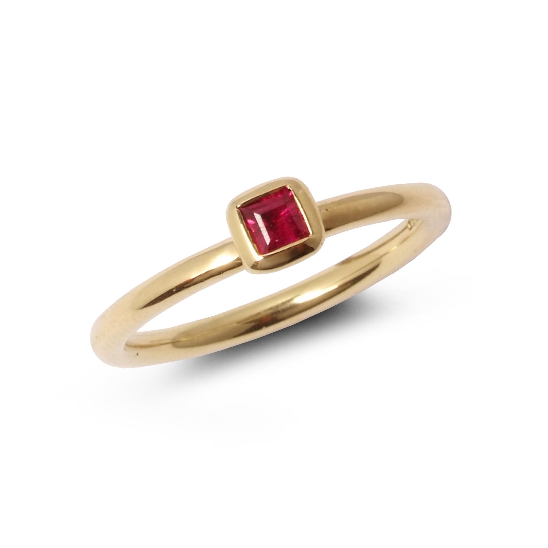Satellite ruby stacking ring