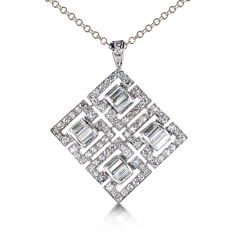 Diamond Buckle Pendant
