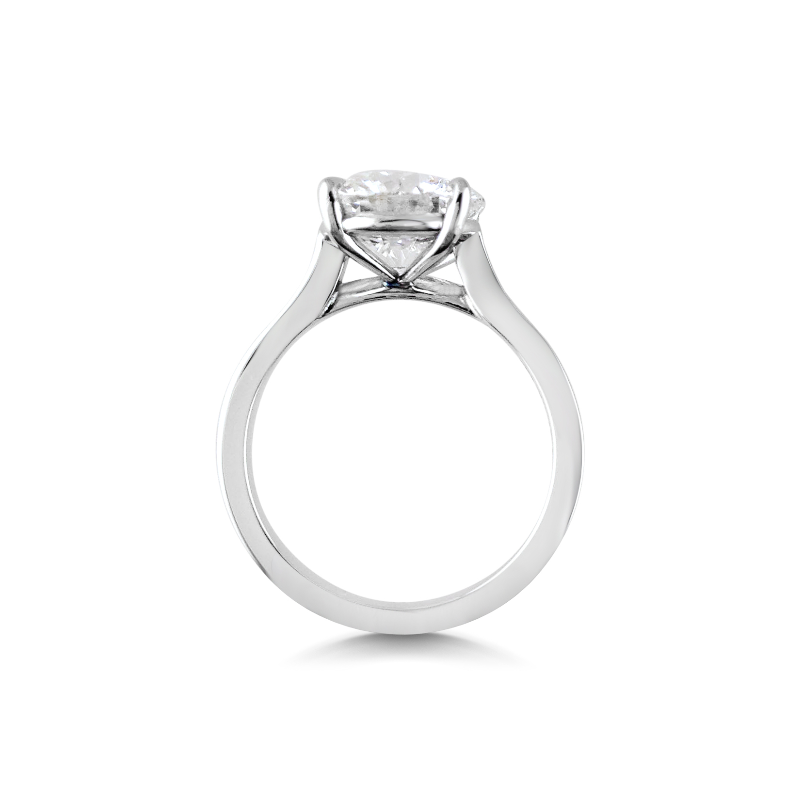 Diamond Solitaire Ring Side View