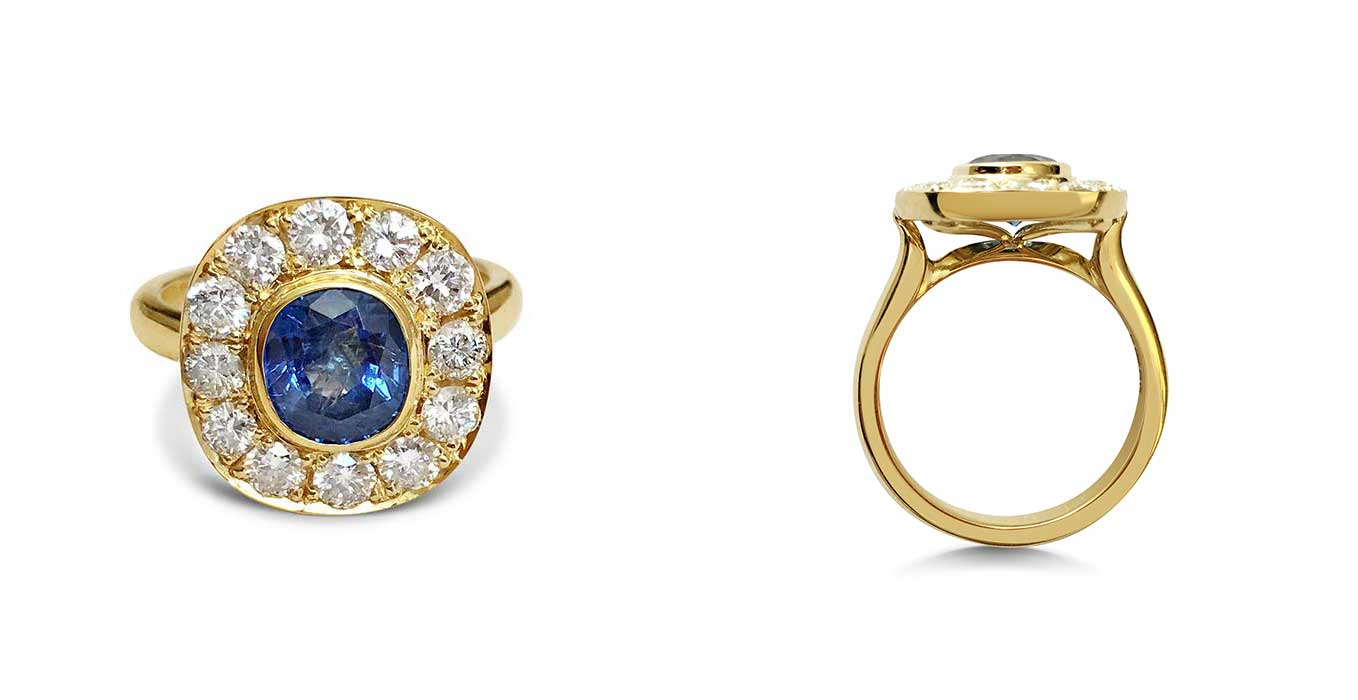 Remodelled Diamond and Sapphire Ring