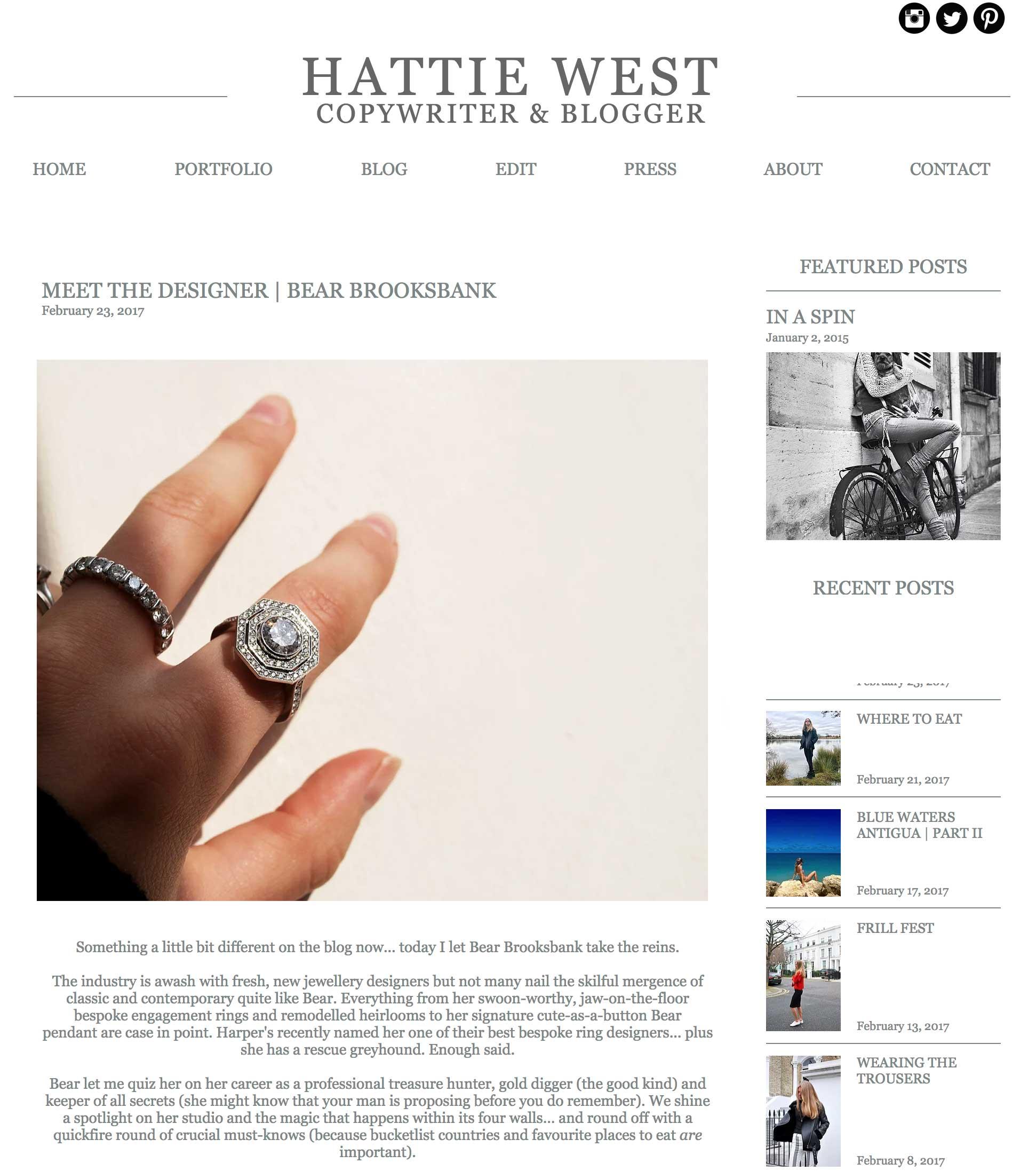 Hattie West Interview