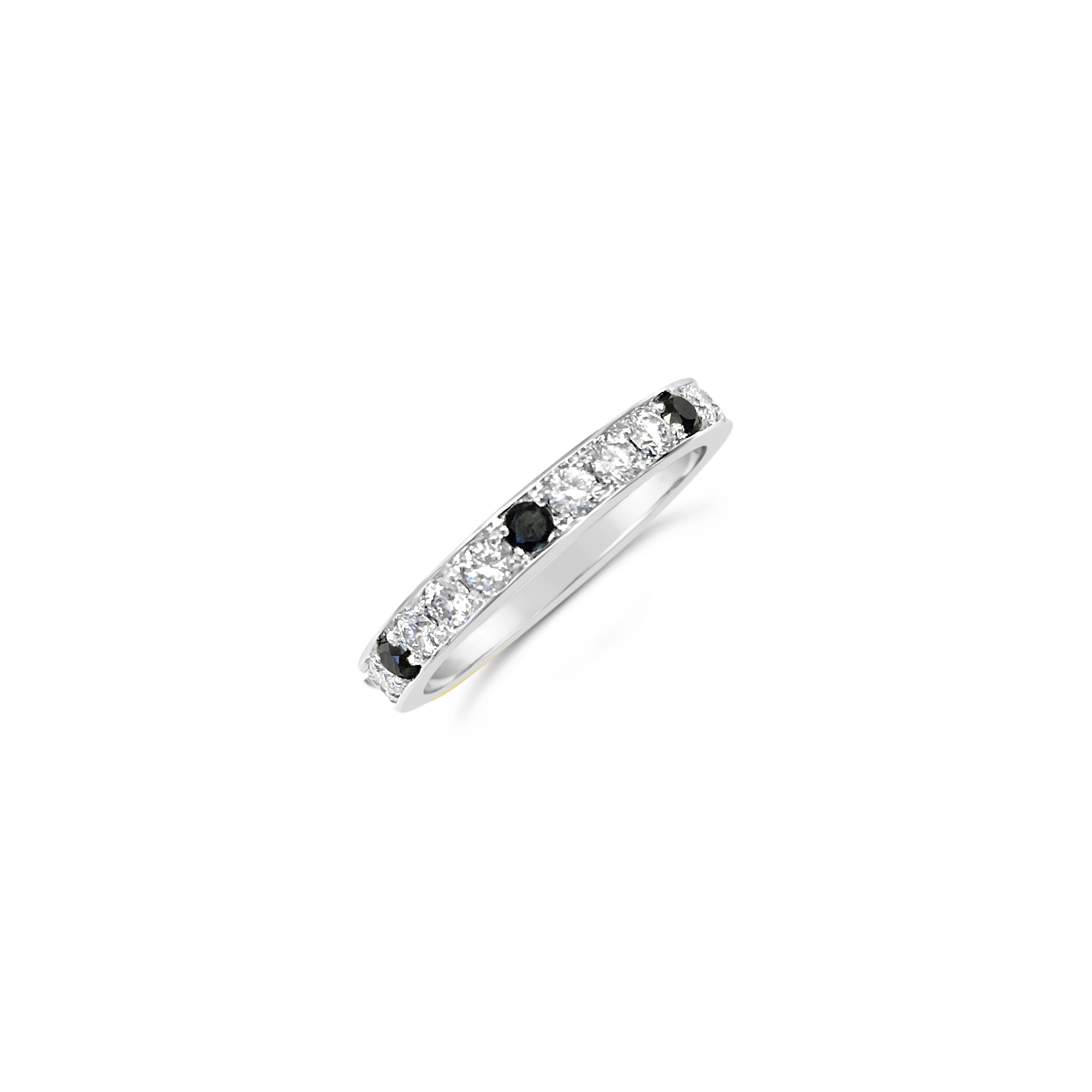 Black and White Diamond Eternity Ring