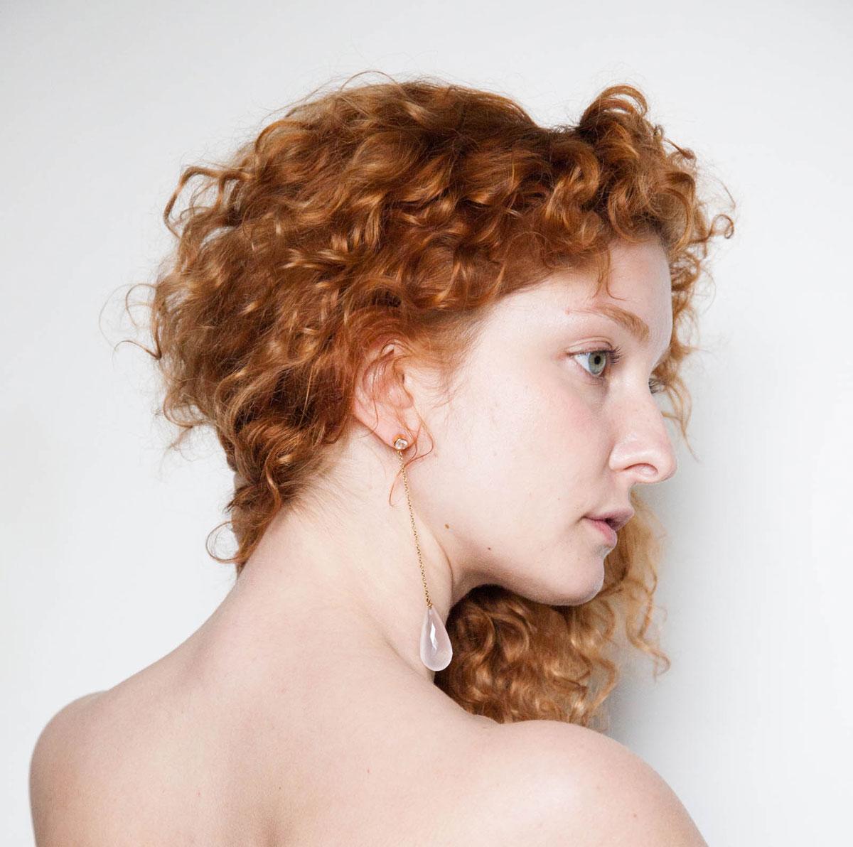 Satellite earrings model shot