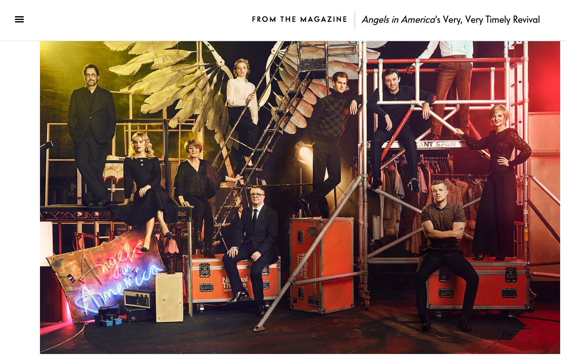 Denise Gough and Angels in America cast