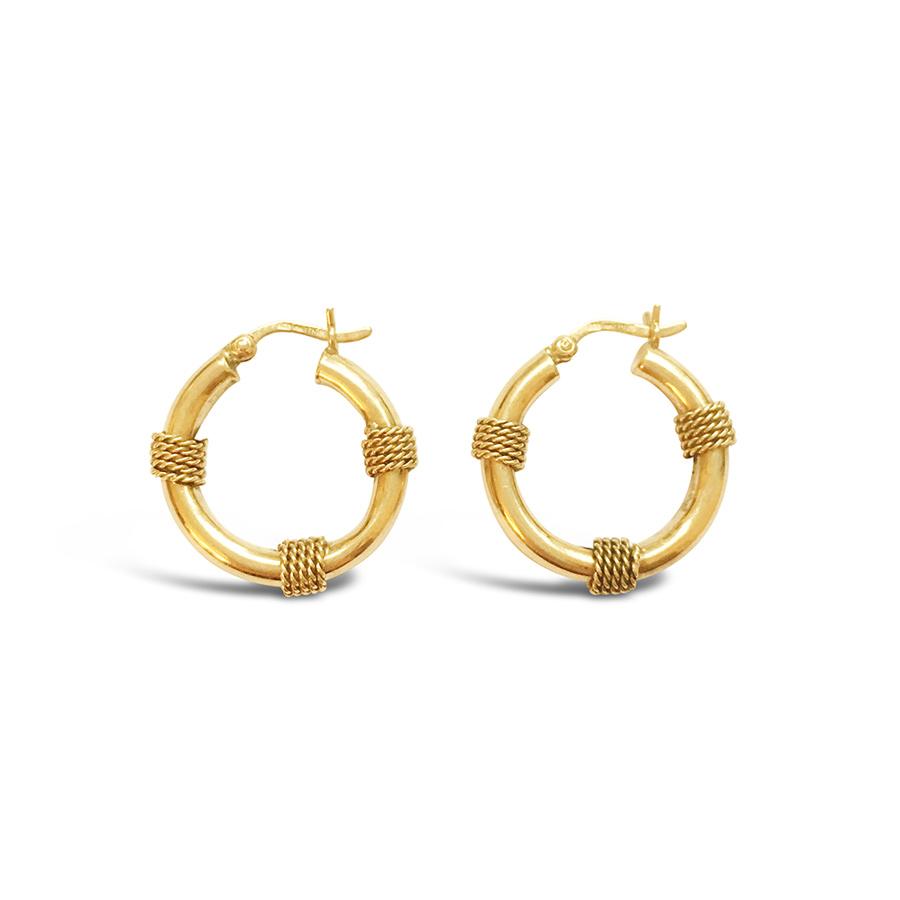 Vintage Nautical Hoop Earrings