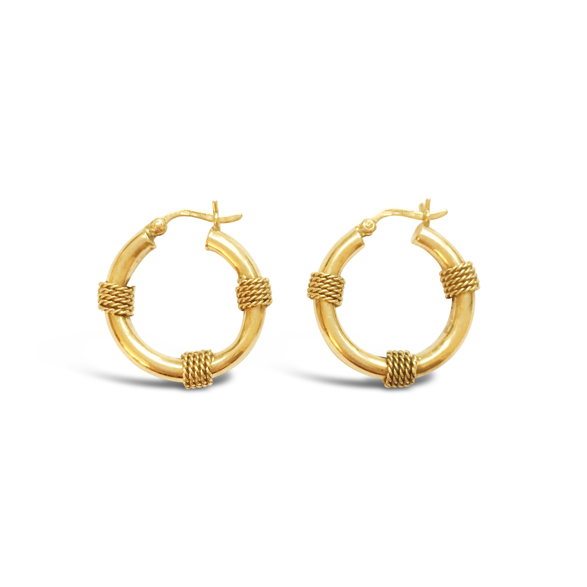 Vintage yellow gold nautical earrings