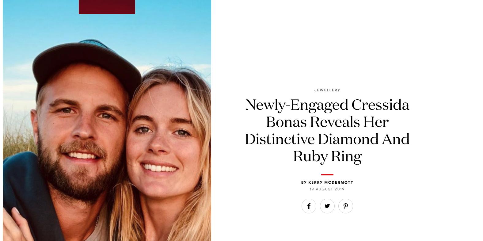 Cressida Bonas Engagement Ring Designer Bear Brooksbank