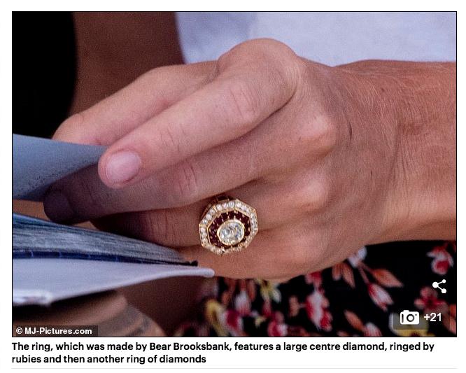 Cressida Bonas engagement ring by Bear Brooksbank