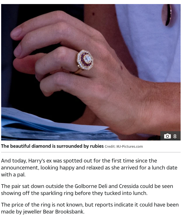 Bear Brooksbank designed Cressida Bonas' engagement ring