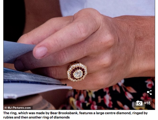 Cressida Bonas engagement ring by Bear Brooksbank
