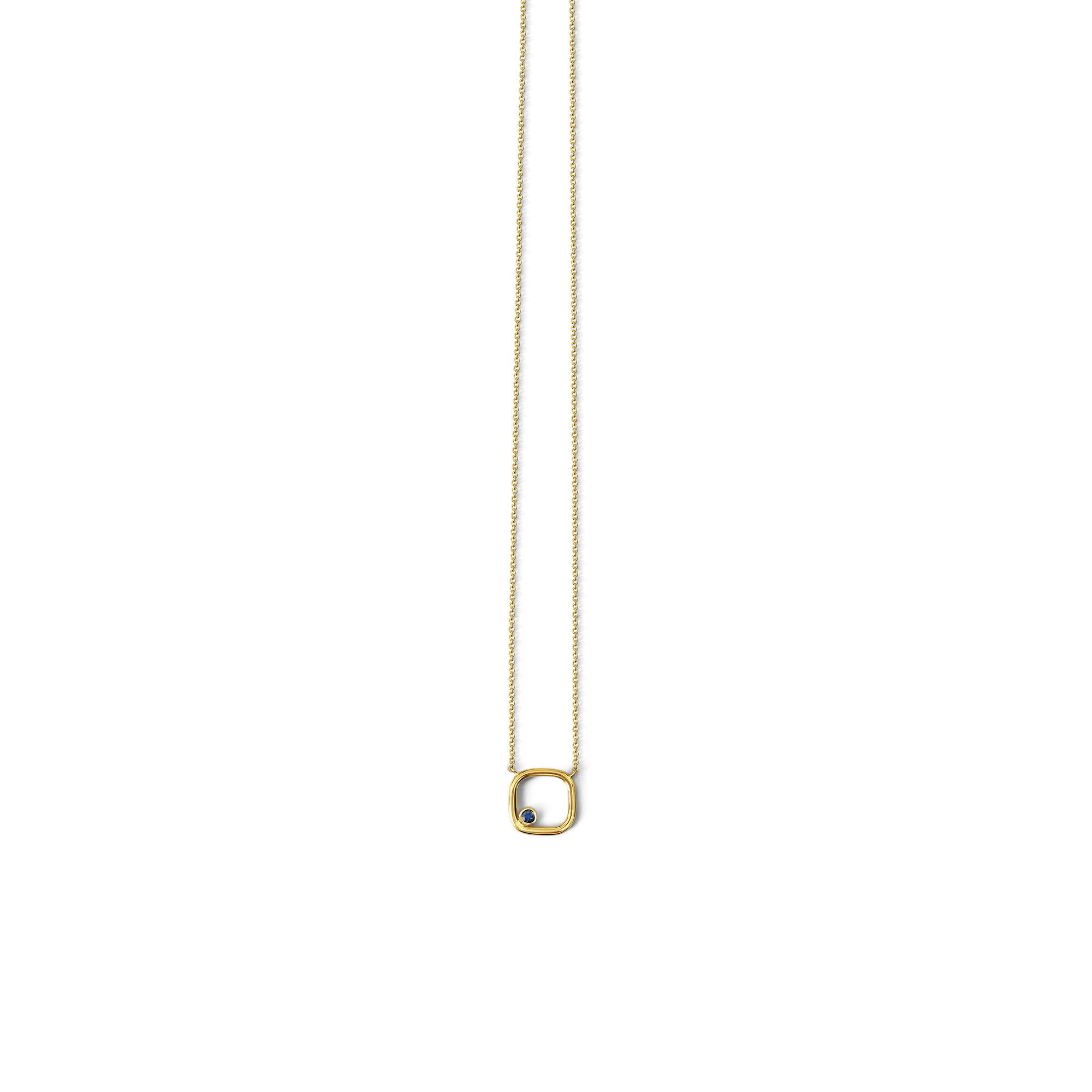 Sapphire pendant mounted in 18ct yellow gold.