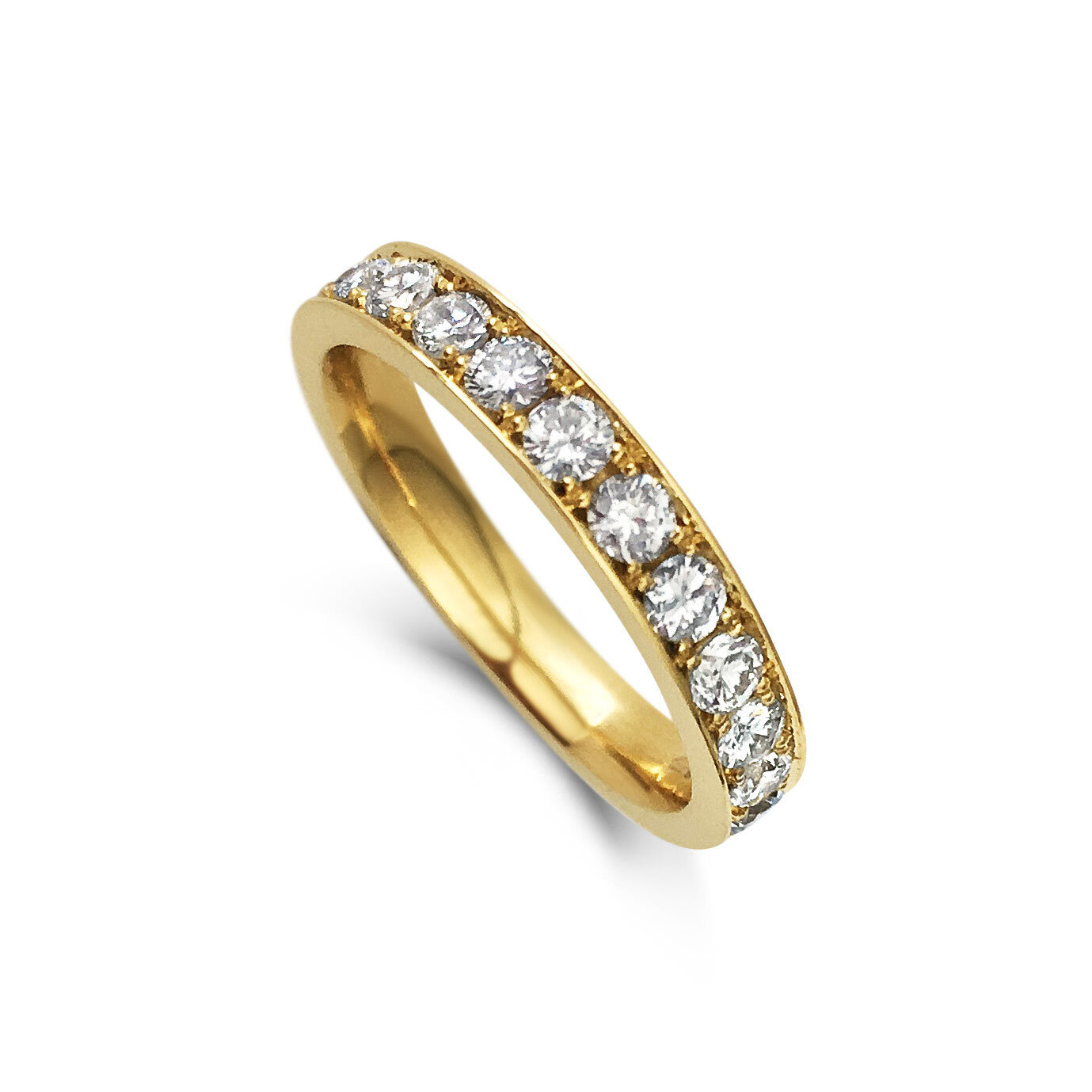 Diamond eternity ring mounted in 18ct yellow gold