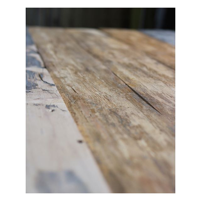 Old wooden floorboards turning into a table. #woodplanks #floor #floorboards #reclaimedwood #reclaimed #recycle #sustainable #table #rustic #tabletop #interior #design #joinery #woodworking #golvplankor #återbruk #bord #snickeri #snickare #måttbeställdamöbler #lattialankku #pöytä #puuseppä #mittatilauskalusteet #pieceofshape