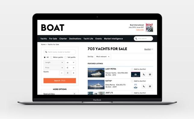 Boat International Superyacht search