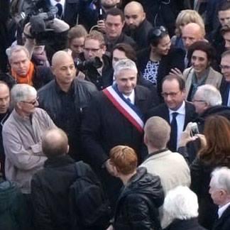 Patrick Petitjean et François Hollande