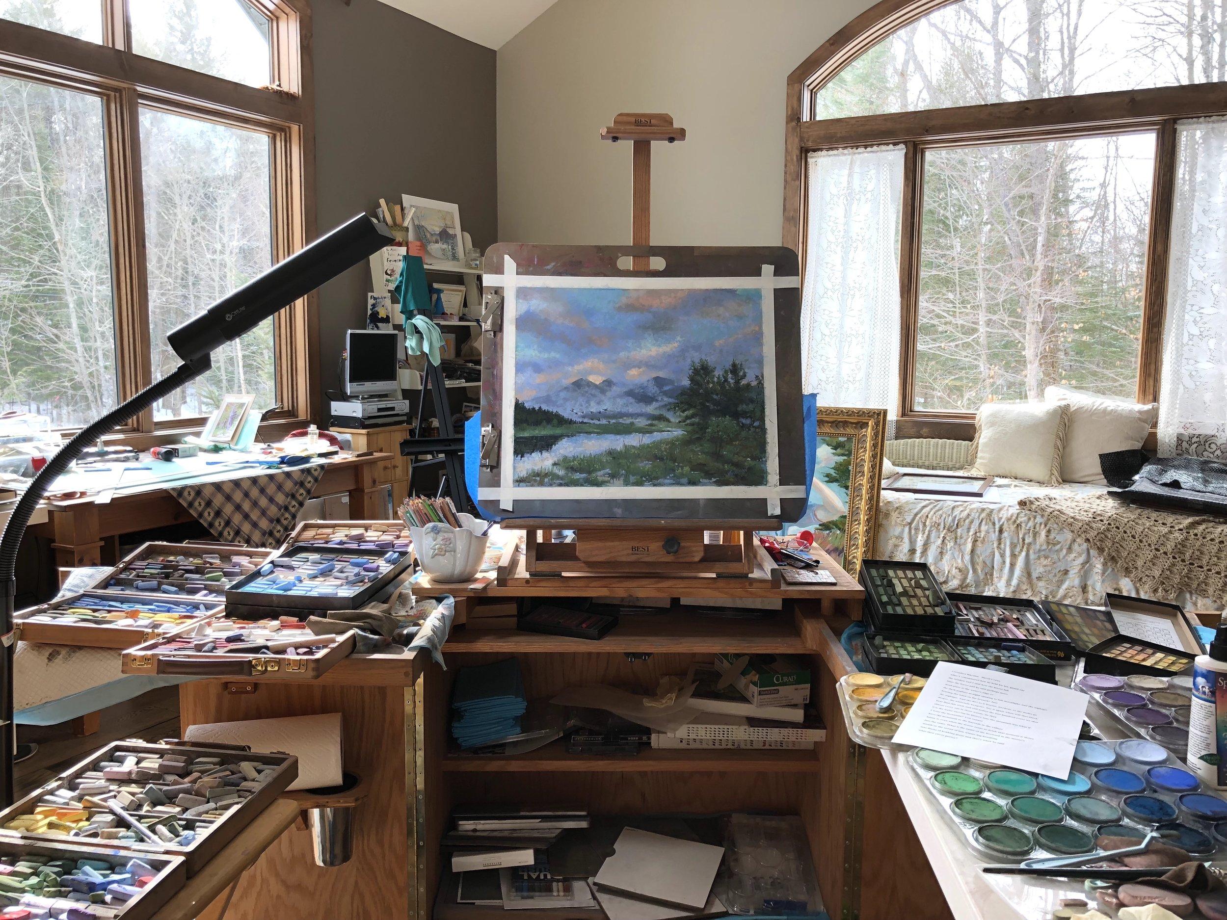 Gallery set up.  Circadian Rhythm.jpeg