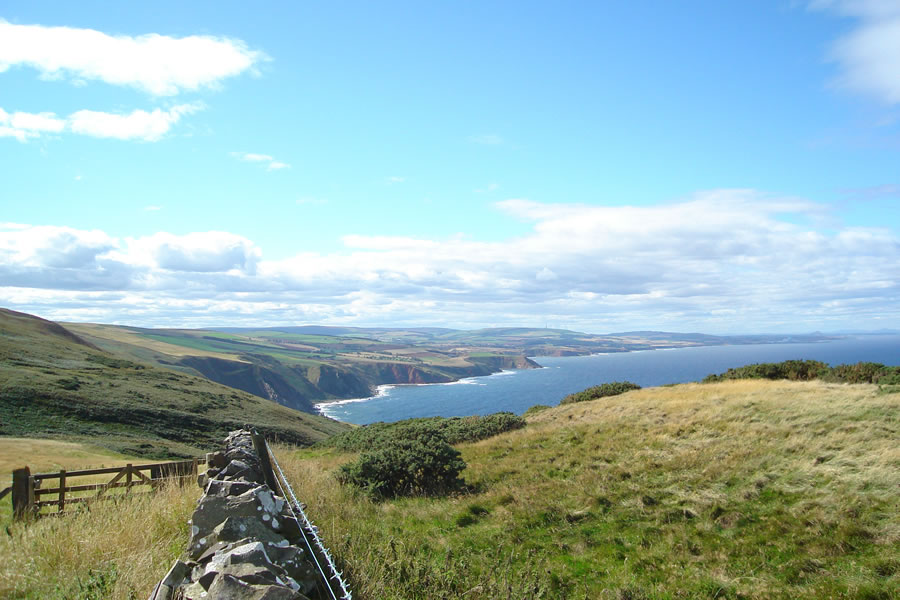 Stunning scenery along the east coast of the Scottish Borders. Image: Tracy Drysdale