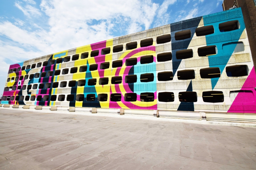 Ricky got through 600 cans of spray paint and took seven days to paint the building – believed to be the largest mural in the UK.