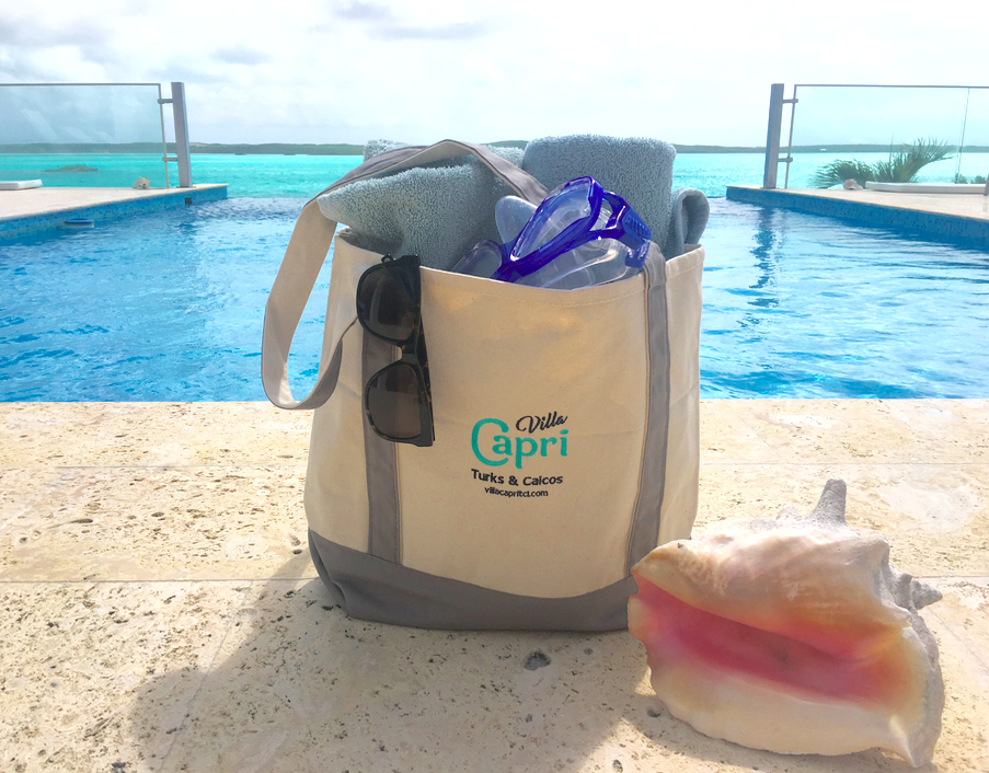 You'll be beach-ready with your villa capri beach bag!