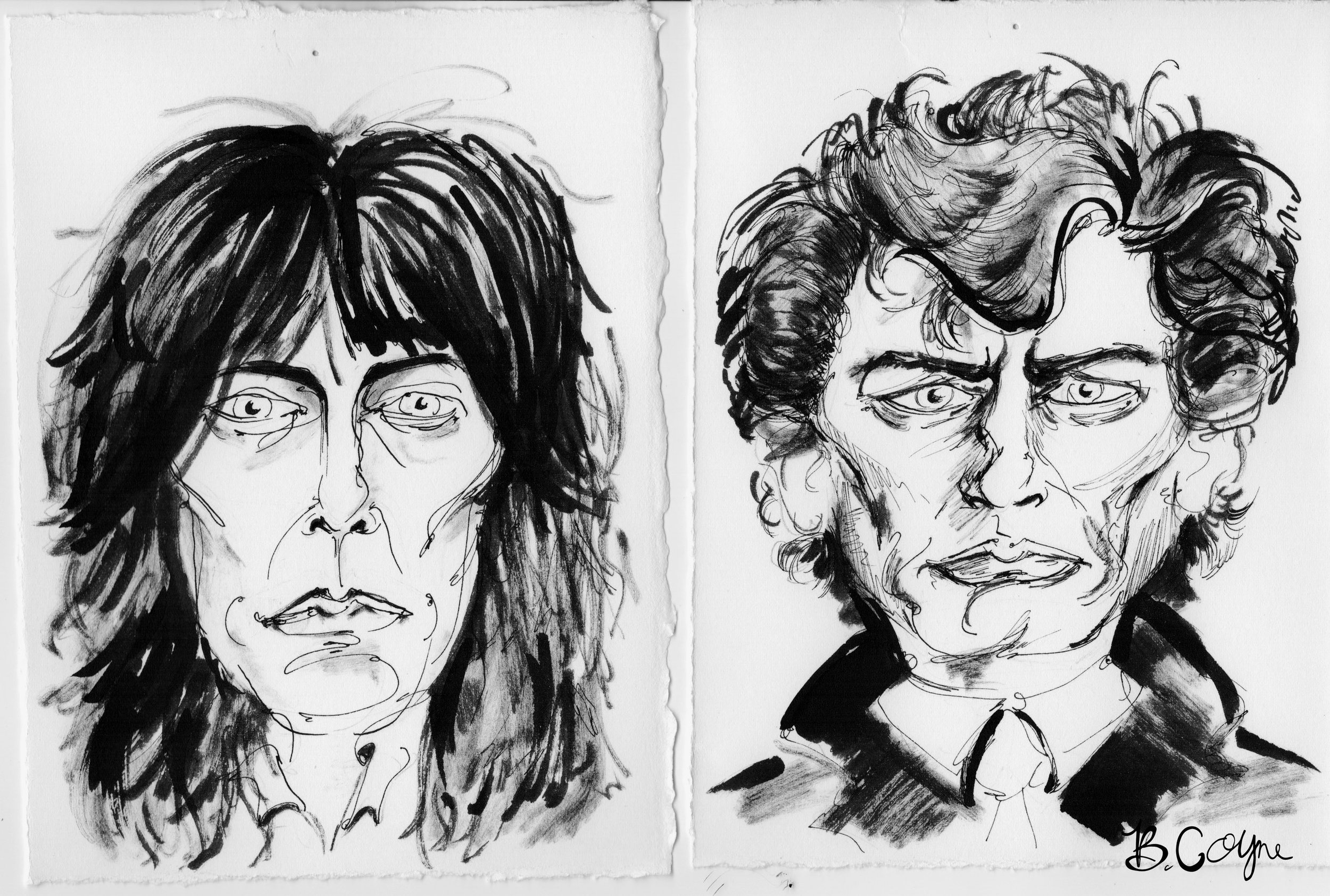 Patti Smith and Rob Mapplethorpe Sketches