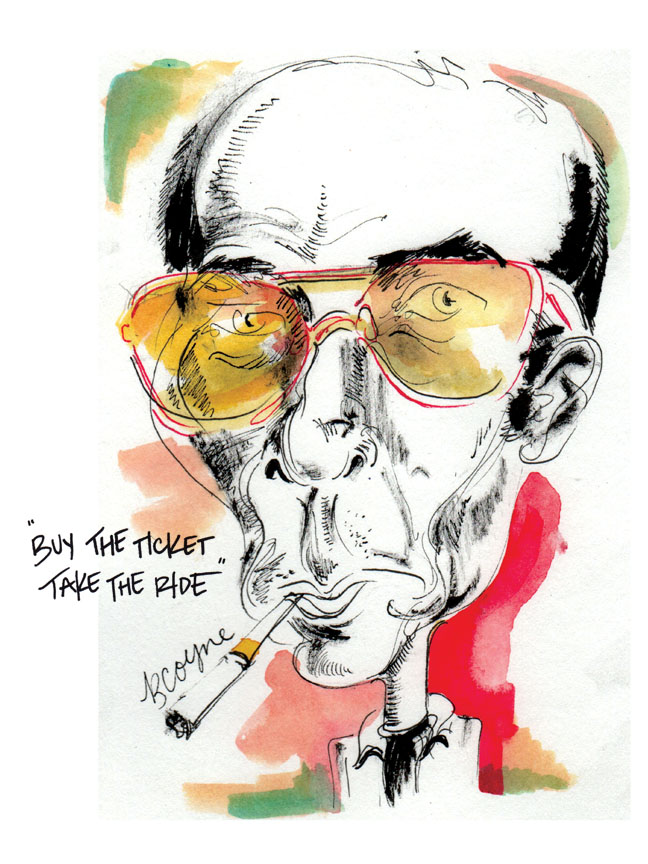 Hunter S. Thompson Sketch