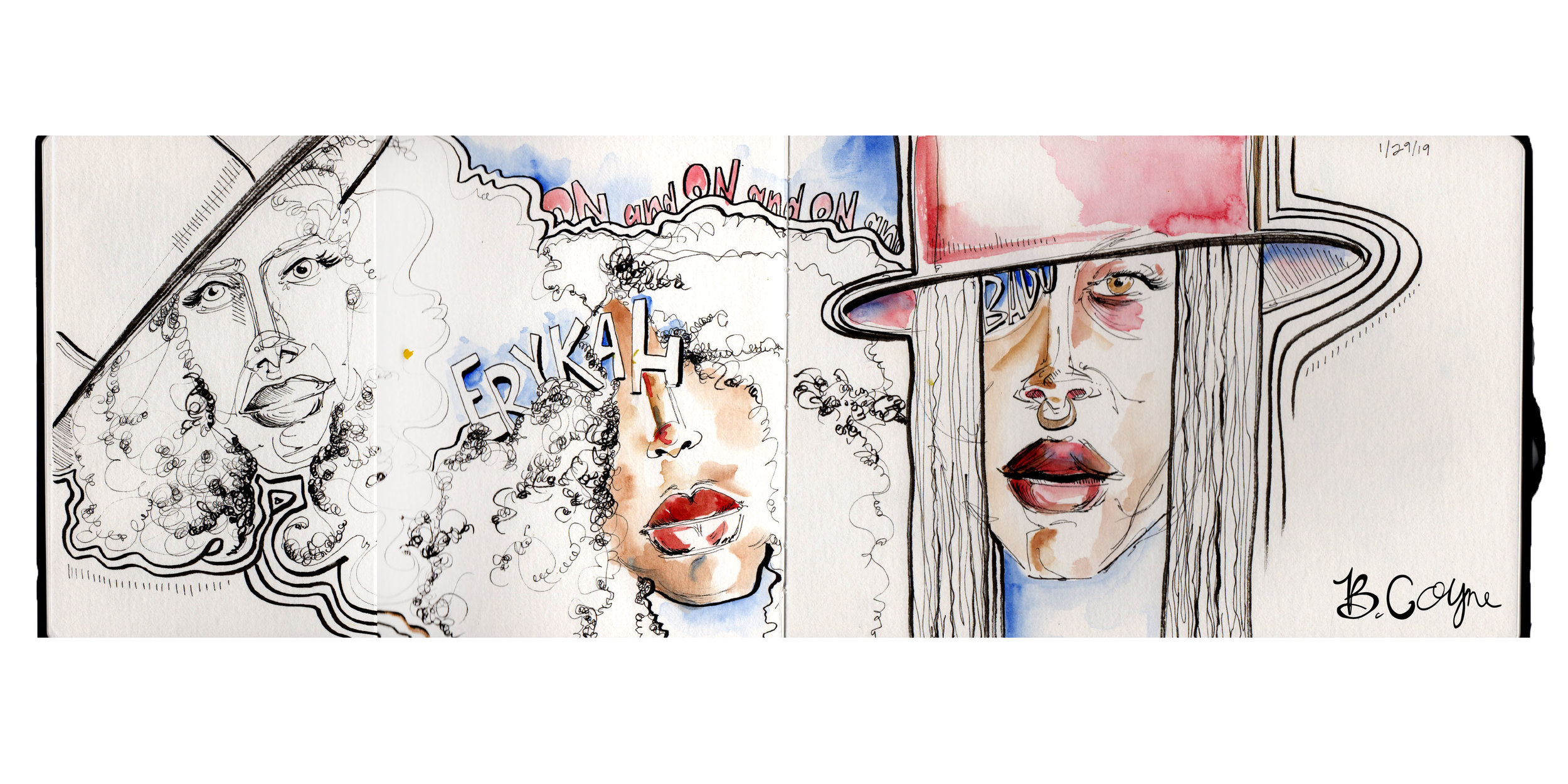 Erykah Badu Sketches