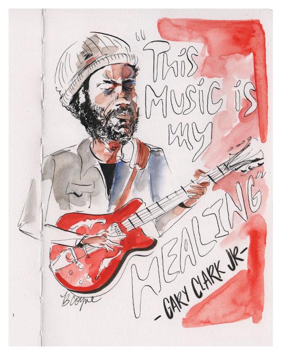 Gary Clark JR. Sketch