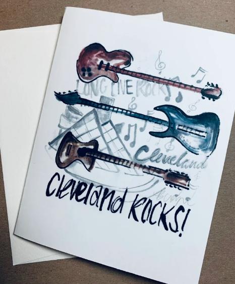 'Cleveland Rocks' Greeting Card