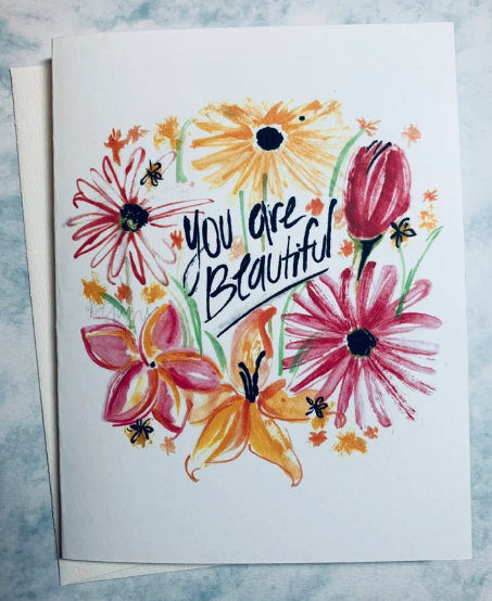 'You are Beautiful' Greeting Card