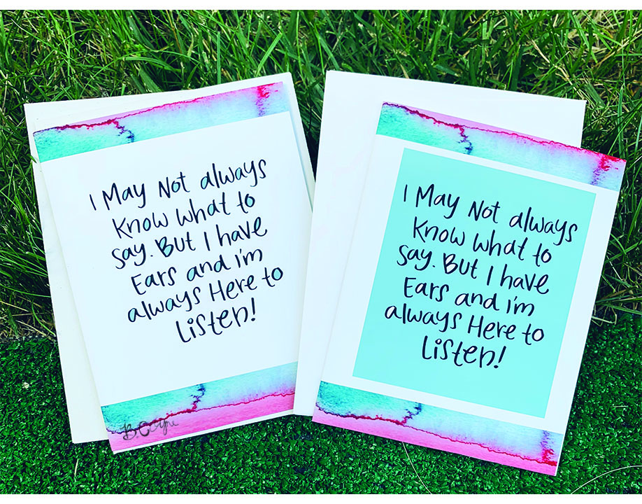'Here to Listen' Greeting Cards