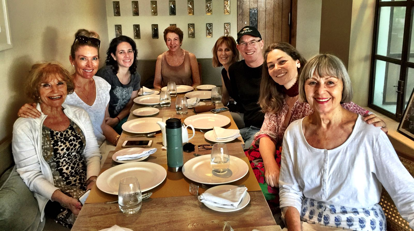 My lovely Australian retreat-mates. We shared many meals and many political conversations!