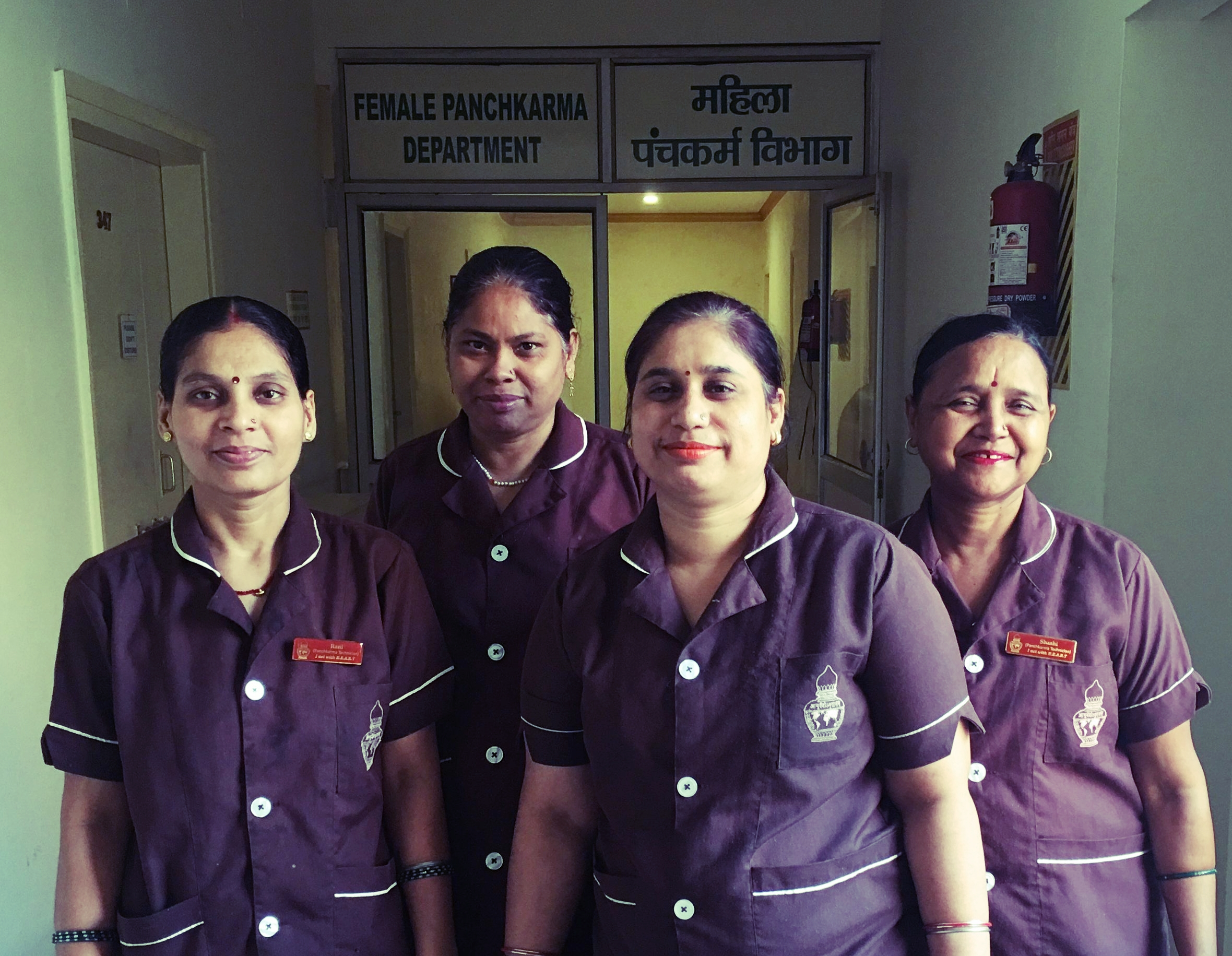 My beautiful technicians- Rani, Sunita, Jyoti and Shashi.