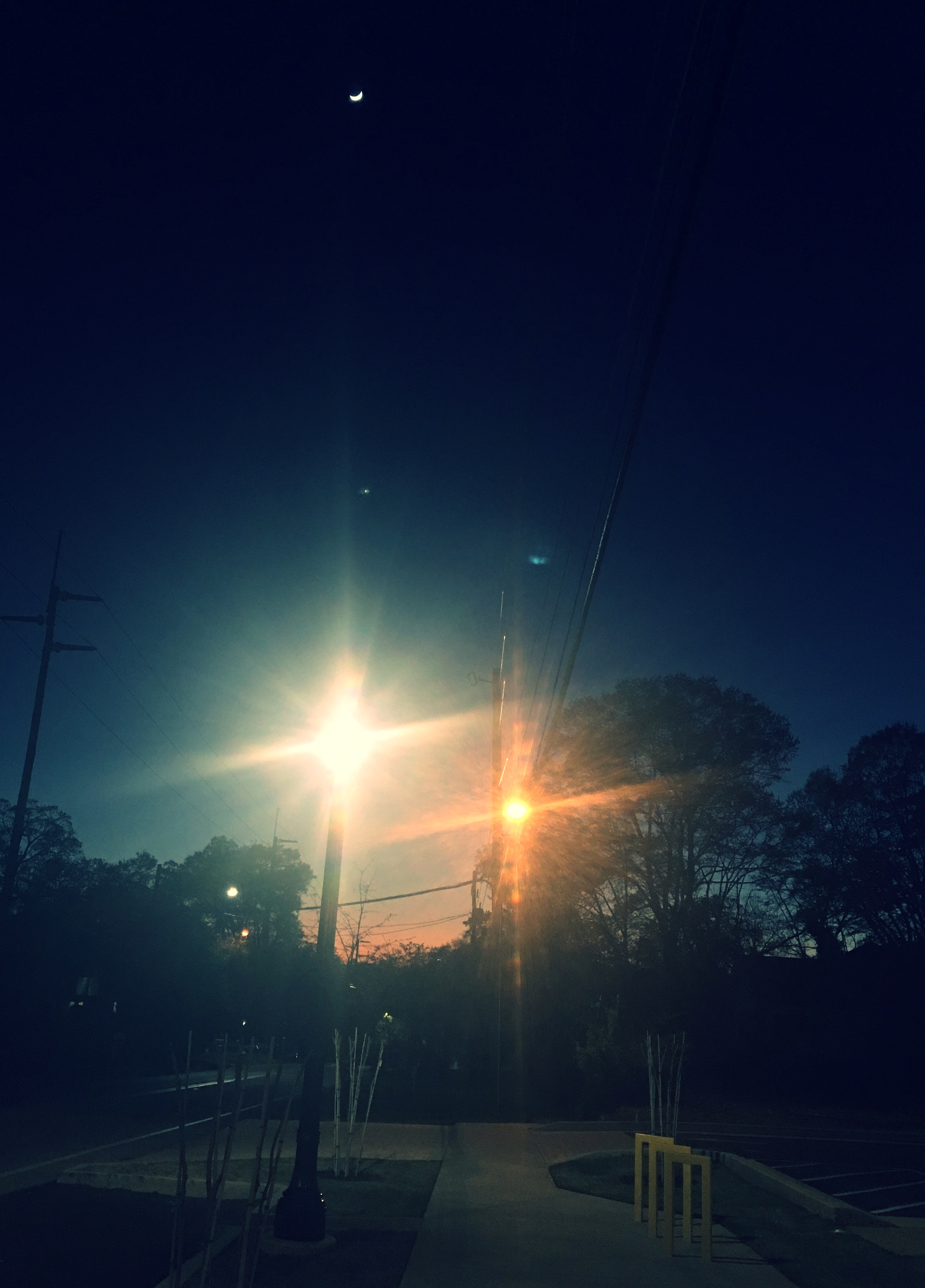You can have the sunset, the moonlight and the streetlight.